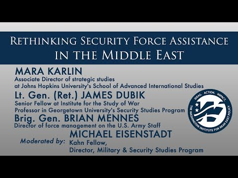 Rethinking Security Force Assistance in the Middle East