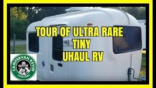 Tour of Ultra Rare Tiny Uhaul RV