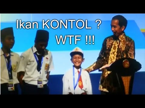 """Kejadian Lucu Pertanyaan Presiden Jokowi Ke Anak Sd """"IKAN KONTOL"""""""