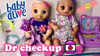 Baby Alive REAL AS CAN BE Dr checkup and medical laptop