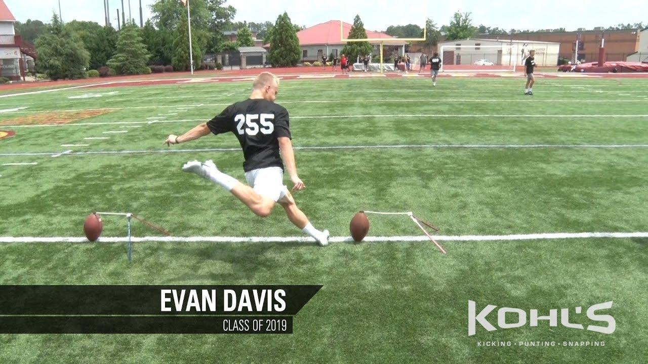 5902913f80 12 Ranked Kicker in America | Evan Davis | Kohl's Kicking Camps ...