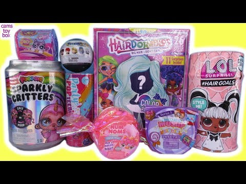dolls-hairdorables-2-lol-surprise-hairgoals-5-poopsie-sparkly-critters-toys-unboxing-fun