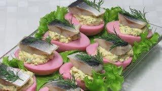 Удивите гостей РОЗОВЫМИ ЯЙЦАМИ! Все в Восторге и просят рецепт! Pink eggs.