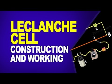 Leclanche Cell Construction And Working Of Leclanche Cell Youtube