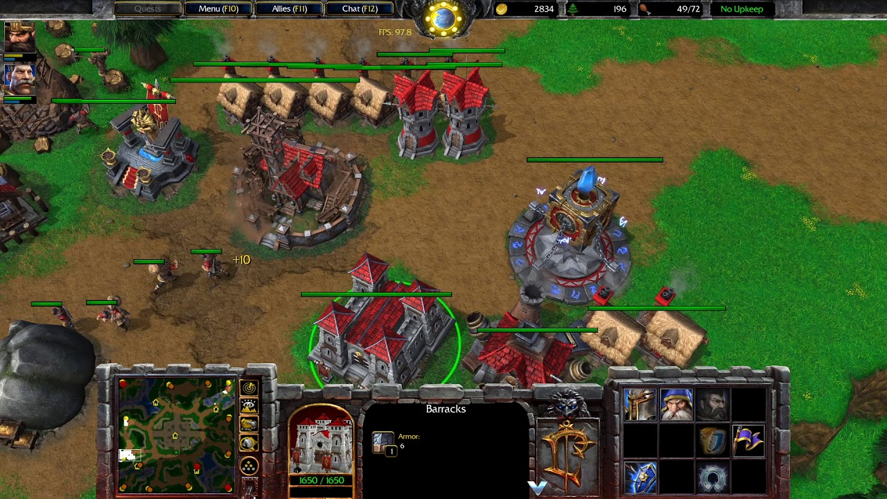 Warcraft 3 Reforged Beta Gameplay Human Vs Orc 1080p60 Max Settings Youtube