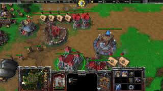 Warcraft 3 Reforged Beta Gameplay, Human vs Orc, 1080p60, Max Settings