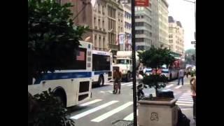 Bikers In New York Street