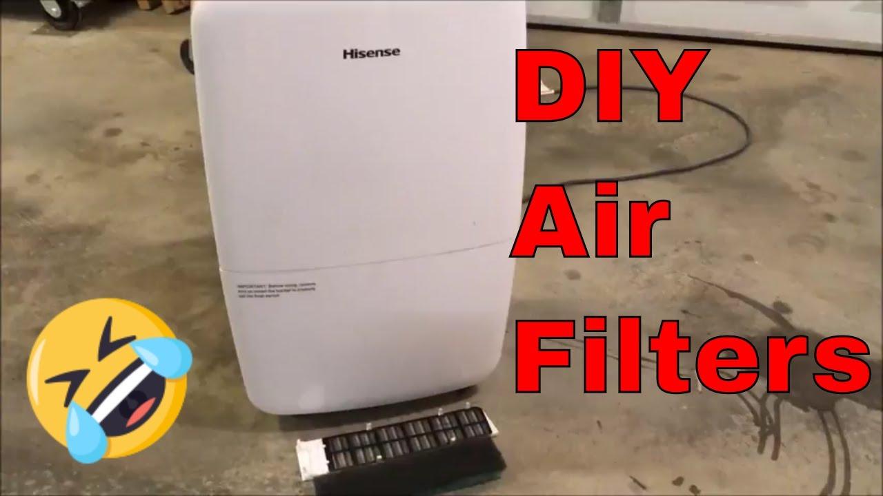DIY Air Filters for Dehumidifier - Hisense 70 Pint