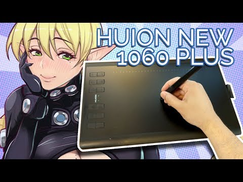 A 12-BUTTON TABLET WITH 8GB MEMORY! HUION New 1060 Plus Unbox Review!