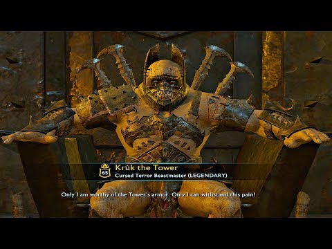 Shadow of War - HIGH Level Fortress Siege & The Tower MAX Level Overlord Boss [4K Ultra HD]