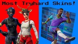 Top 5 most 'TRYHARD SKINS' dans fortnite Saison 7!