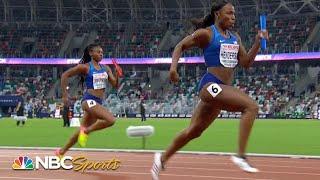 USA women take on Europe in 4x100 meter relay | NBC Sports