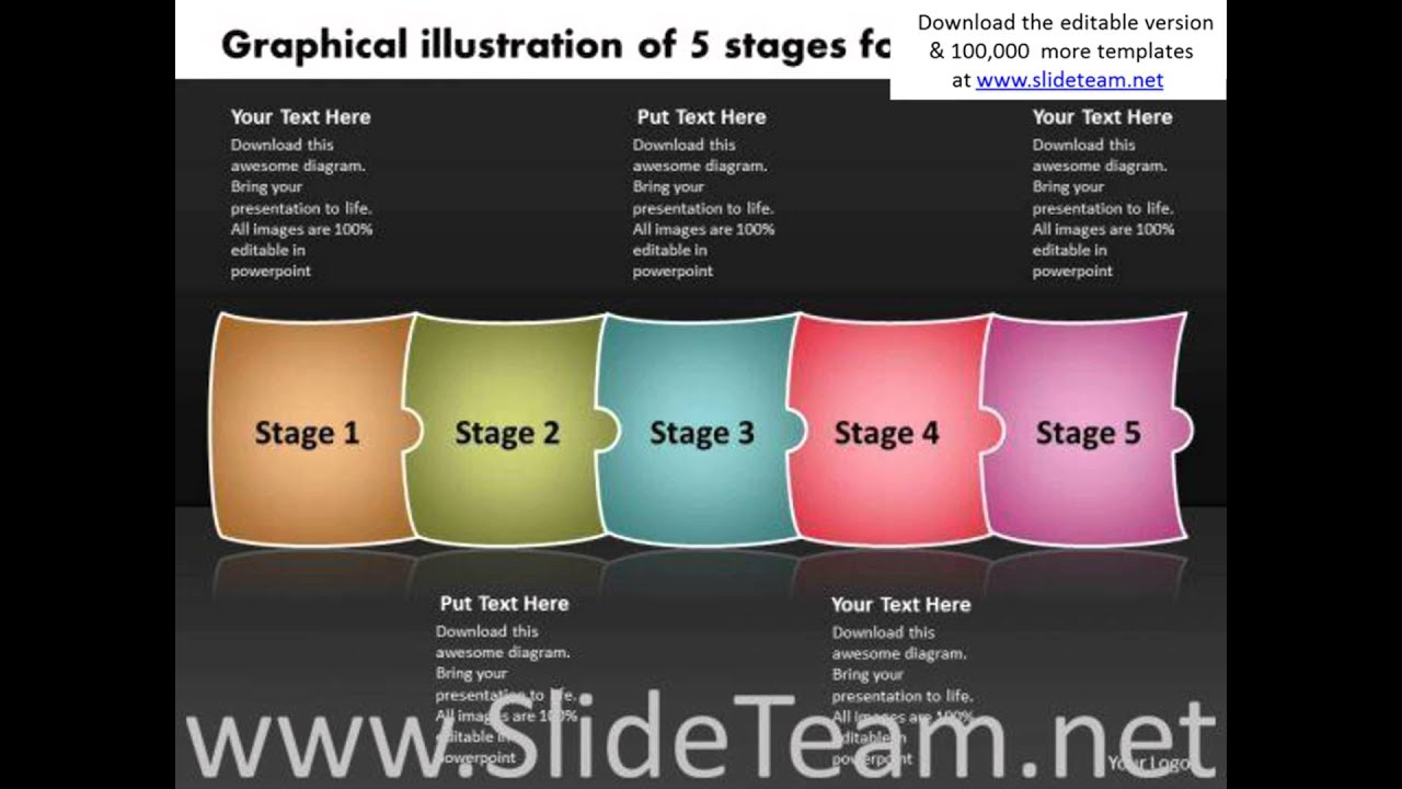 Graphical illustration of 5 stages for development flowchart graphical illustration of 5 stages for development flowchart examples powerpoint templates ccuart Choice Image