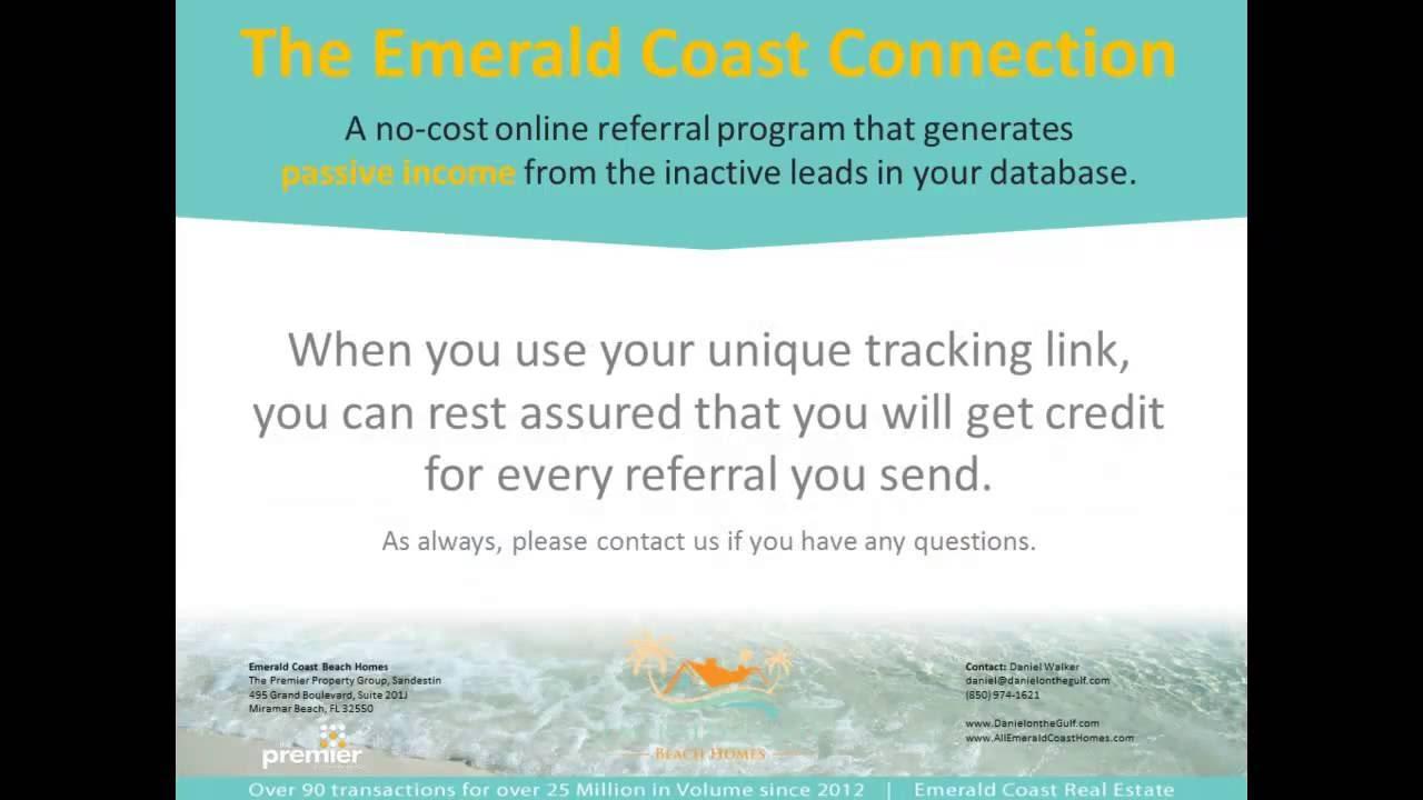 Emerald Coast Connection Real Estate Referral Program Tracking Demo