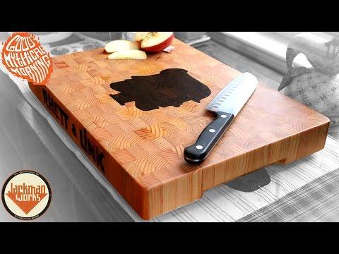 Rhett & Link Inlaid End Grain Cutting Board