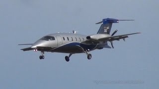 Airgo Flugservices Piaggio P.180 Avanti D-IVIN Landing and Takeoff Hamburg Airport - 30.04.2013