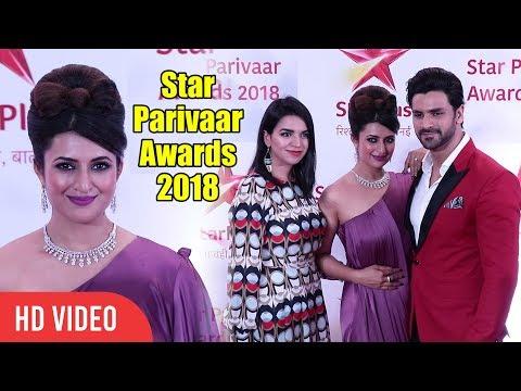 Gorgeous Divyanka Tripathi With Husband Vivek Dahiya At Star Parivaar Awards 2018