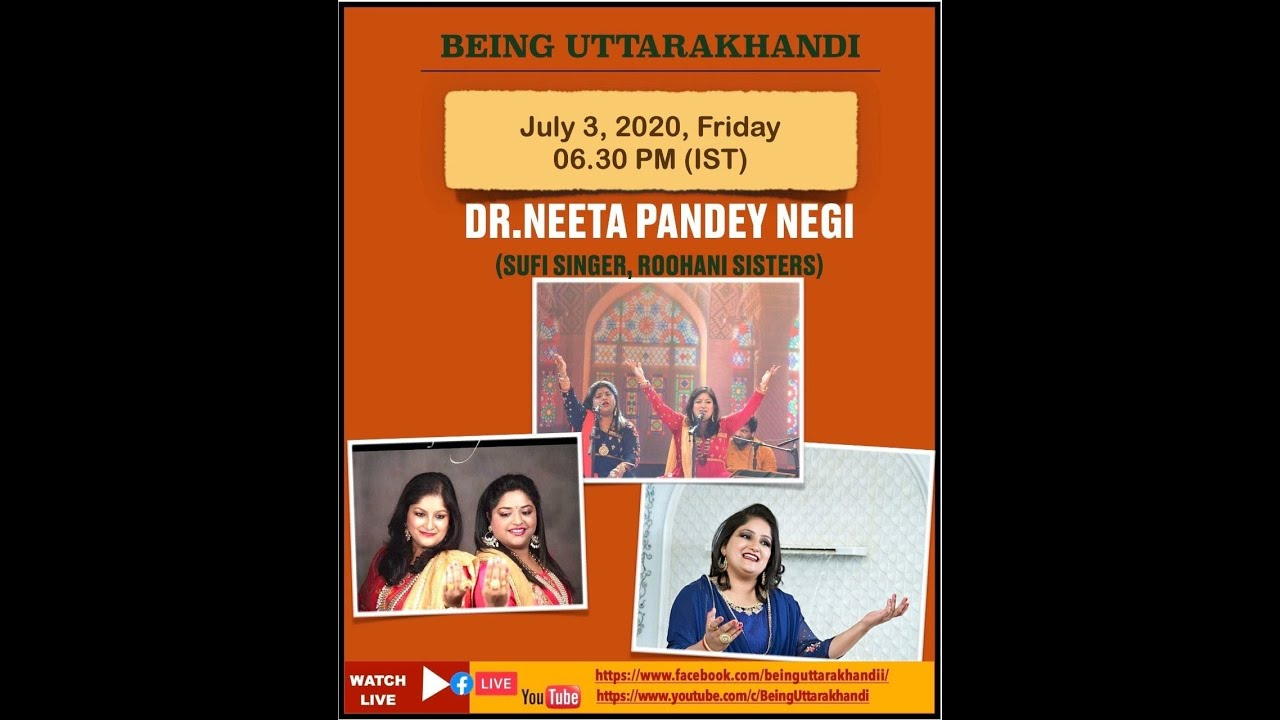Dr Neeta Pandey Negi: A known Sufi Singer from our Himalaya Live