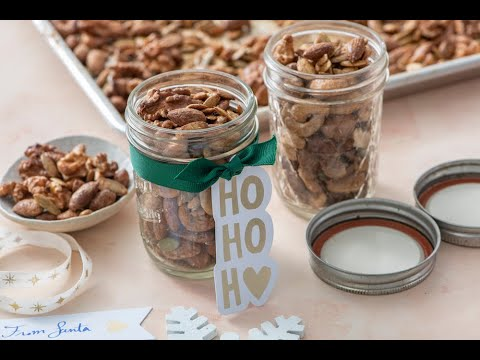 Pumpkin Spiced Nuts and Seeds - Handmade Holiday Gifts - Weelicious