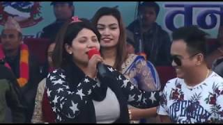 live Dhori by Ramji Khand and Shanti Sunar in Tanahun Festival 2017