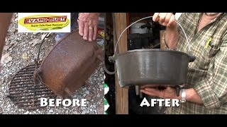 Cast Iron Dutch Oven Grill Restoration - Evapo-Rust Team Fitzgerald