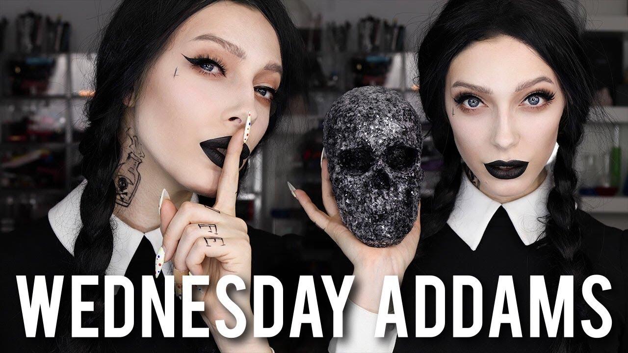 Grown Up Wednesday Addams Halloween Tutorial