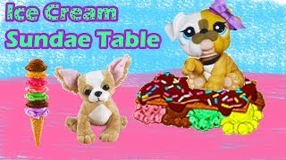 Ice Cream Sundae Table DIY Webkinz Littlest Pet Shop LPS My Little Pony Craft