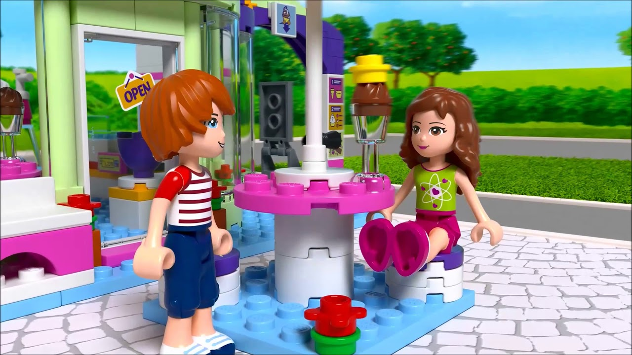 Smyths Toys Lego 41320 Friends Heartlake Frozen Yogurt Shop Youtube