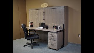 Sideways Murphy bed with Roll Away File Cabinet