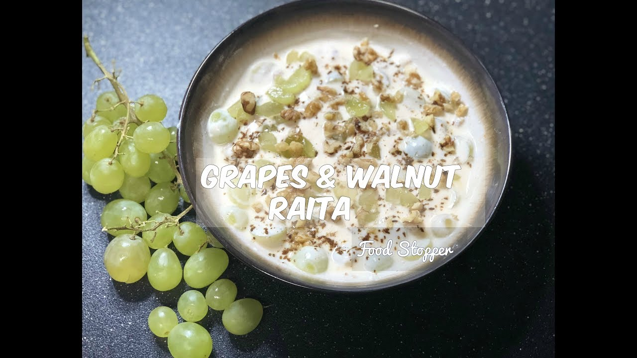 Grapes walnut raita recipe healthy food yogurt recipe grape grapes walnut raita recipe healthy food yogurt recipe grape recipes indian food forumfinder