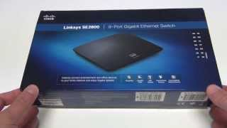 Unboxing Cisco Linksys SE2800 8-Port Gigabit Ethernet Switch (QoS)