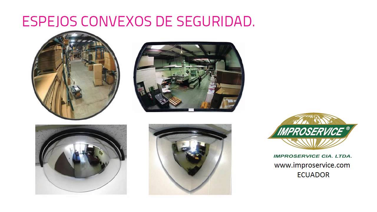 Espejos convexos de seguridad ecuador youtube for Espejos de seguridad