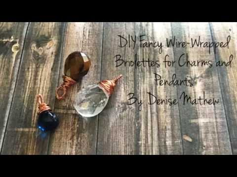 DIY Fancy Wire-Wrapped Top Drilled Bead by Denise Mathew