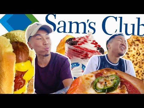 TRYING SAM'S CLUB FOOD COURT! BETTER THAN COSTCO?! // Fung Bros