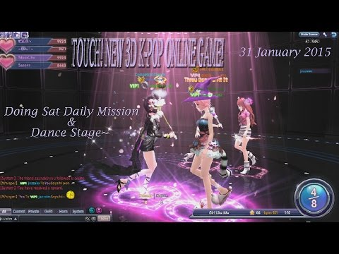 TOUCH - NEW 3D K-POP GAME! Doing Sat Daily & Dance Stage~ 31 Jan 2015