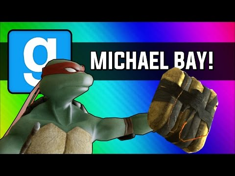 Gmod: Michael Bay Movie  Ninja Turtle Chain Explosion Garry's Mod Sandbox Funny Moments