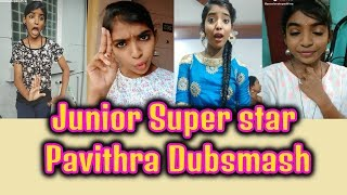 Zee Tamil Junior Super star Pavithra dubsmash compilation