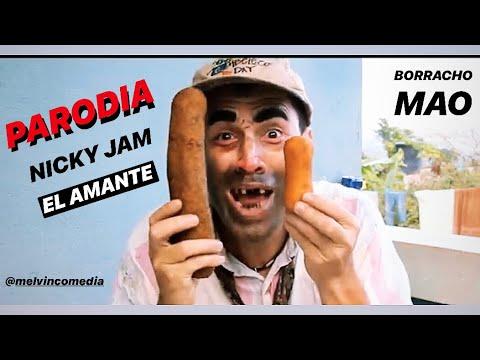 NICKY JAM EL AMANTE  PARODIA PARODY COMEDIANTE DE PUERTO RICO Melvin Comedia Vazquez