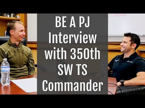 BE A PJ Interview with 350th SW TS Commander