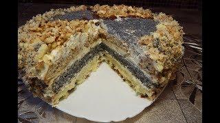 Торт СКАЗКА с орехами, маком и изюмом I Cake FAIRY TALE  with nuts, poppy seeds and raisins