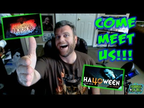 COME MEET US!!! - Halloween Horror Nights Hollywood 2018 & Halloween 40th Anniversary Celebration