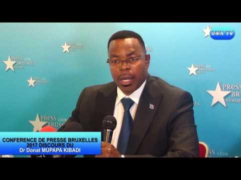 DISCOURS DU DOCTEUR DONAT MUPAPA KIBADI CONFERENCE DE PRESSE BRUXELLES 2017