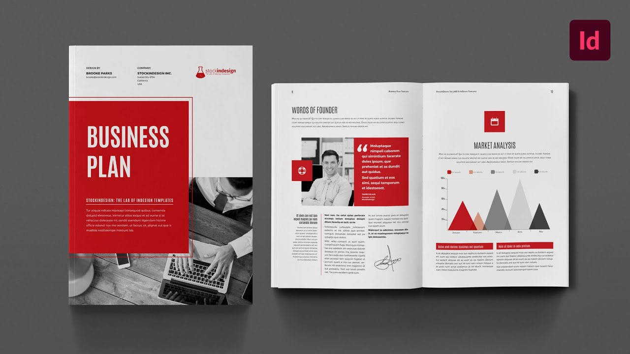 Business Plan InDesign Template YouTube - Business plan template indesign