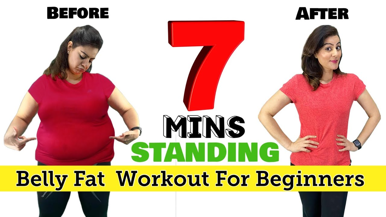 Easy STANDING 7 Mins Lose Belly Fat Workout At Home For Beginners 🔥 100% Effective | MUST TRY