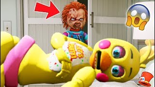 EVIL DOLL CHUCKY IS HIDING IN ANIMATRONICS CLOSET! (GTA 5 Mods For Kids FNAF RedHatter)