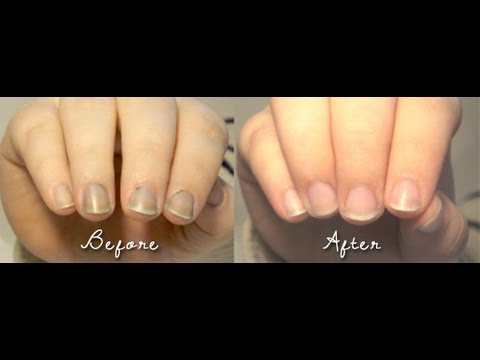 How To: DIY Remove Nail Polish Stains - YouTube