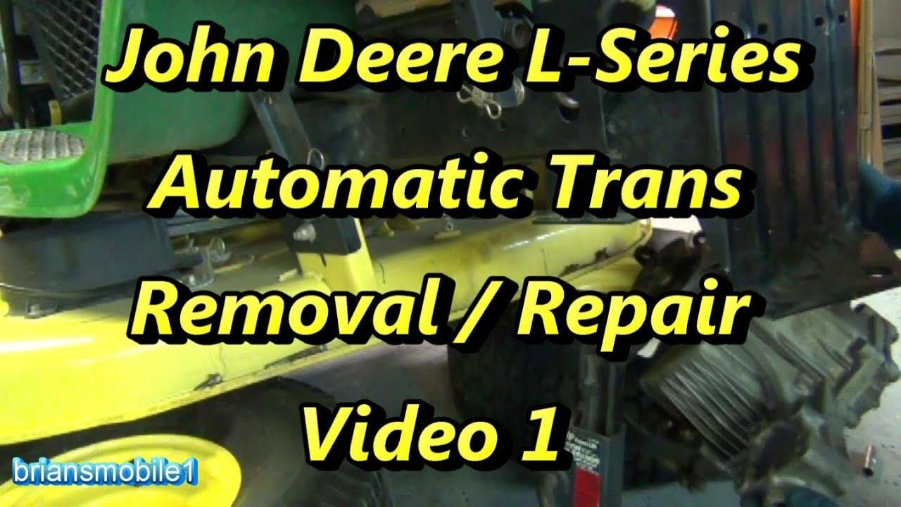 small resolution of part 1 john deere l series transmission repair removal