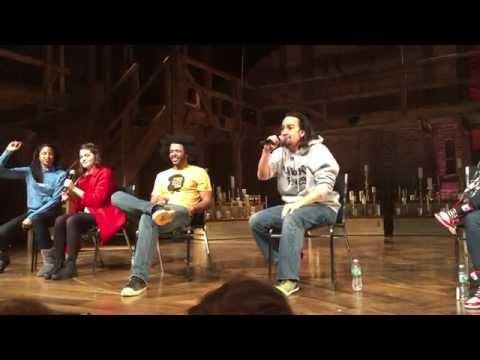 Lin-Manuel Miranda performing cut John Adams Rap from Hamilton