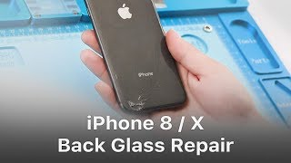 Quick Solution - iPhone 8/X Broken Back Glass Repair/Replacement