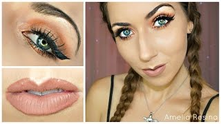 easy smokey eye hair tutorial shaaanxo bh cosmetics palette jeffree star celebrity skin